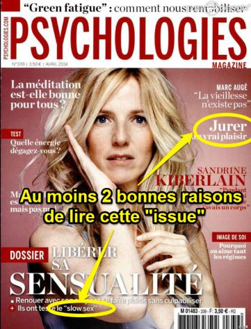 couverture Psychologies Magazine Avril 2014 feuilleton été 2014