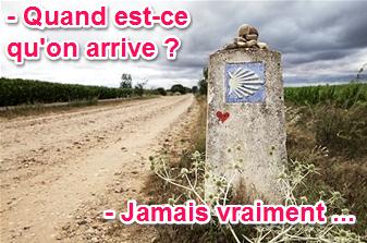 pilar lopez feuilleton été 2014 sophrologie mettre sa vie en perspective sens de la vie borne pelerinage saint Jacques de Compostelle route
